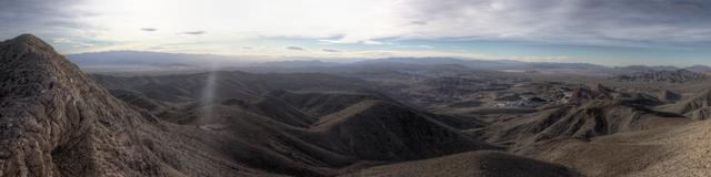View eastward from the crest of the Nopah Range